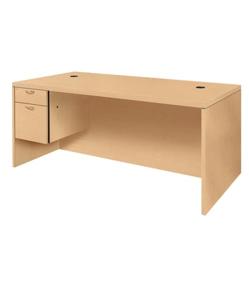 "HON Valido Left Pedestal Desk | 1 Box / 1 File Drawer | 72""W 