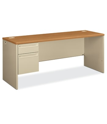 "HON 38000 Series Left Pedestal Credenza | 1 Box / 1 File Drawer | 72""W 