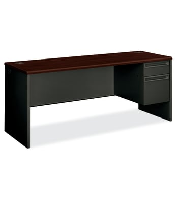 "HON 38000 Series Right Pedestal Credenza | 1 Box / 1 File Drawer | 72""W 