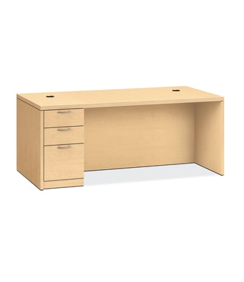 "HON Valido Left Pedestal Desk | 2 Box / 1 File Drawer | 72""W 