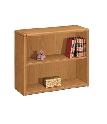 "HON 10700 Series Bookcase | 2 Shelves | 36""W | Harvest Finish"