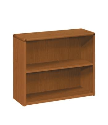 "HON 10700 Series Bookcase | 2 Shelves | 36""W | Bourbon Cherry Finish"