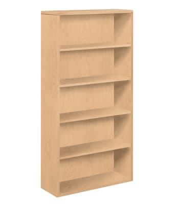 "HON 10500 Series Bookcase | 5 Shelves | 36""W | Natural Maple Finish"