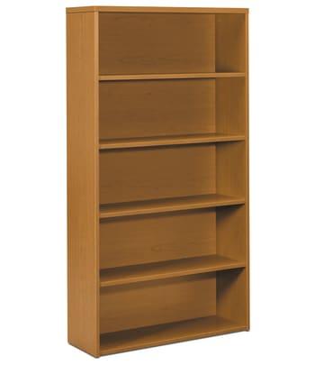 "HON 10500 Series Bookcase | 5 Shelves | 36""W | Bourbon Cherry Finish"