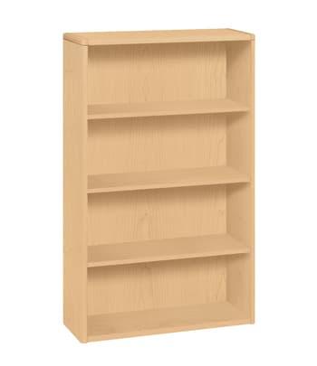"HON 10700 Series Bookcase | 4 Shelves | 36""W | Natural Maple Finish"