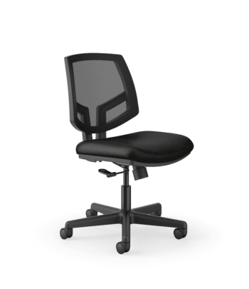 HON Volt Mesh Back Task Chair | Center-Tilt | Black SofThread Leather