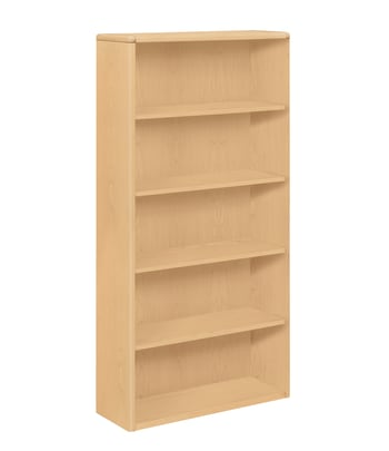 "HON 10700 Series Bookcase | 5 Shelves | 36""W | Natural Maple Finish"