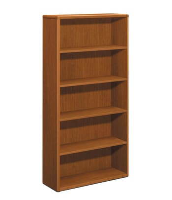 "HON 10700 Series Bookcase | 5 Shelves | 36""W | Bourbon Cherry Finish"