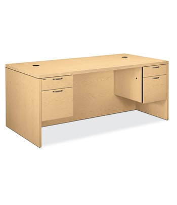 "HON Valido Double Pedestal Desk | Bow Top | 2 Box / 2 File Drawers | 72""W 