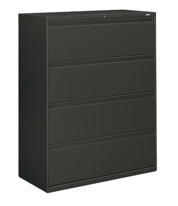 "HON Brigade 800 Series Lateral File | 4 Drawers | Radius Pull | 42""W 