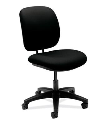 HON ComforTask Chair   Seat Depth   Black Fabric