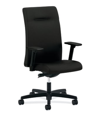 HON Ignition Executive High-Back Chair | Adjustable Arms | Black Fabric