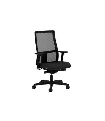 HON Ignition Low-Back Mesh Task Chair | Synchro-Tilt | Adjustable Arms | Black Fabric