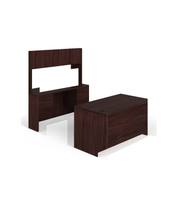 "HON 10500 Series Double Pedestal Desk / Credenza | Full Pedestals | 4 Box / 4 File Drawers | 60""W 