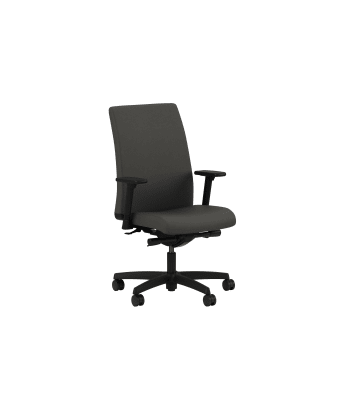HON Ignition Mid-Back Task Chair | Synchro-Tilt | Adjustable Arms | Iron Ore Fabric
