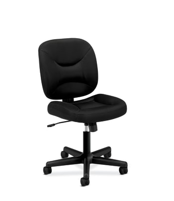 HON ValuTask Low-Back Task Chair | Center-Tilt | Black Sandwich Mesh