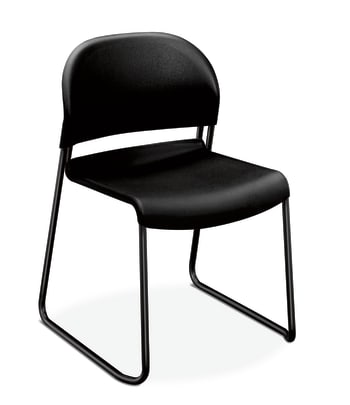 HON GuestStacker High-Density Stacking Chair |Onyx Shell