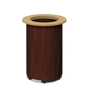 HON Preside Laminate Table Base | Cylinder Style | Mahogany Finish