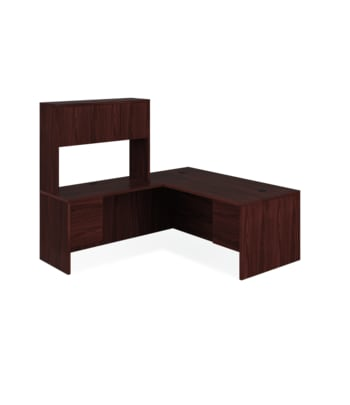 "HON 10500 Series L-Workstation | Right Desk, Return, Hutch | 72""W x 84""D 