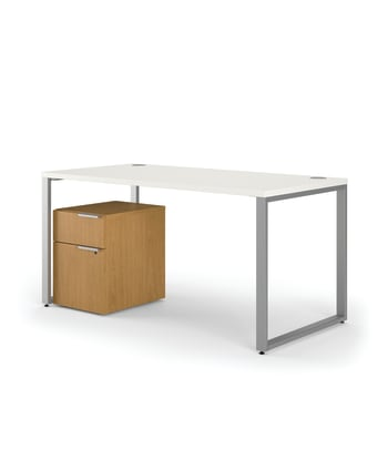 "HON Voi Compact Workstation | Desk, Mobile Ped | 60""W x 60""D 