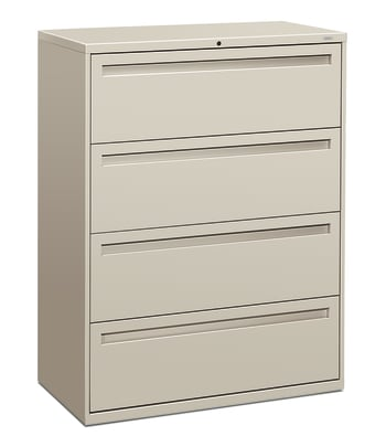 "HON Brigade 700 Series Lateral File | 4 Drawers | Integral Pull | 42""W 