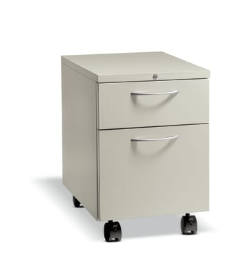 "HON Flagship Mobile Pedestal | 1 Box / 1 File Drawer | Arch Pull | 15""W 