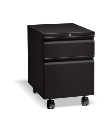 "HON Flagship Mobile Pedestal | 1 Box / 1 File Drawer | Radius Pull | 15""W 