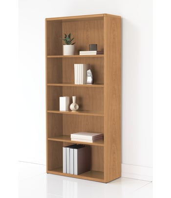 "HON 10700 Series Bookcase | Adjustable Shelves | 32-5/8""W | Harvest Finish"