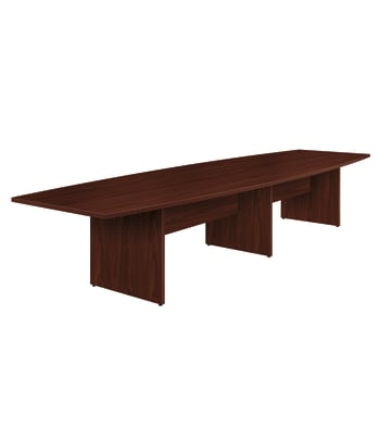 "HON Preside Laminate Table Top | Boat Shape | Flat Edge | Stretcher Included | 168""W 