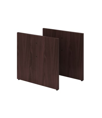 HON Preside Laminate Table Base Kit | Panel Style | Mahogany Finish | 2 Bases per Kit