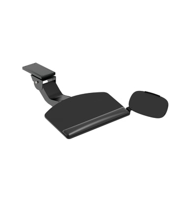 HON Convertible Keyboard with Articulating Arm and Mouse Pad | Black Finish