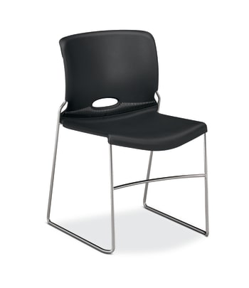 HON Olson High-Density Stacking Chair | Onyx Shell