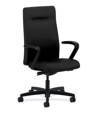 HON Ignition Executive High-Back Chair | Fixed Arms | Black Fabric