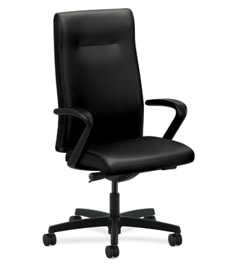 HON Ignition Executive High-Back Chair | Fixed Arms | Black Leather