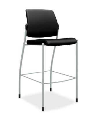 HON Ignition Cafe-Height Stool |  Armless | Black Fabric