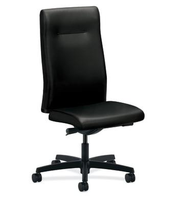 HON Ignition Executive High-Back Chair | Armless | Black Leather