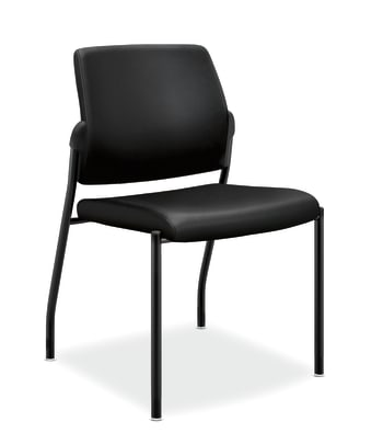 HON Ignition Multi-Purpose Stacking Chair | Armless | Black Leather
