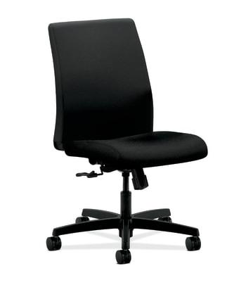 HON Ignition Low-Back Mesh Task Chair | Center Tilt, Back Height | Black Fabric