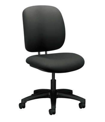 HON ComforTask Chair   Seat Depth   Iron Ore Fabric