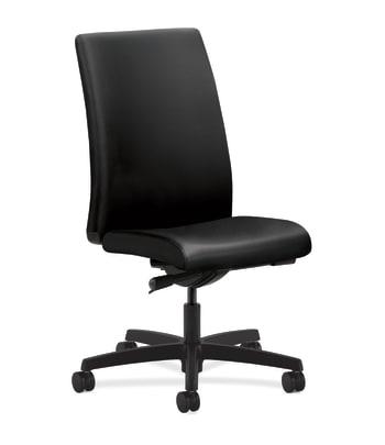 HON Ignition Mid-Back Task Chair | Synchro-Tilt |  Armless | Black Leather