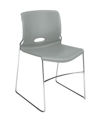 HON Olson High-Density Stacking Chair | Platinum Shell