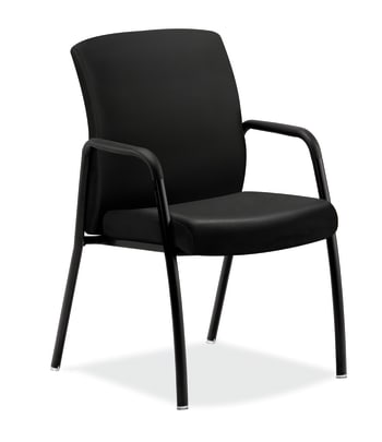 HON Ignition Guest Chair | Fixed Arms | Black Leather