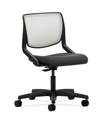HON Motivate Task Chair | Fog 4-way stretch Back | Iron Ore Fabric