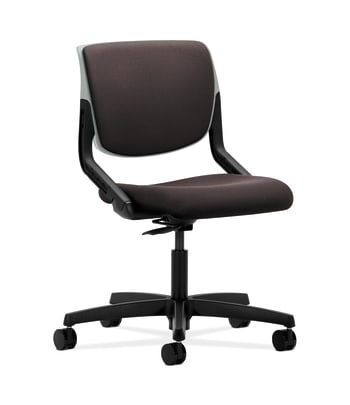 HON Motivate Task Chair | Upholstered Back | Platinum Shell | Espresso Fabric