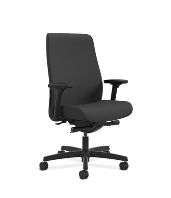 HON Endorse Mid-Back Task Chair | Built-In Lumbar | Synchro-Tilt, Seat Glide | Black Fabric