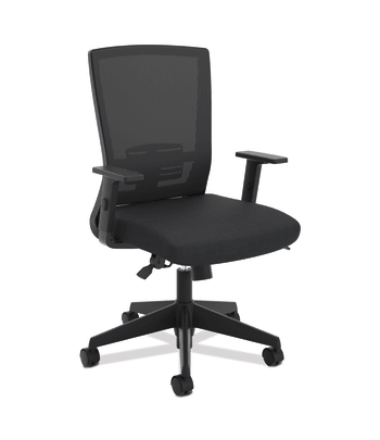 HON Mesh High-Back Task Chair | Center-Tilt, Tension, Lock, Adjustable Lumbar | Adjustable Arms | Black Fabric