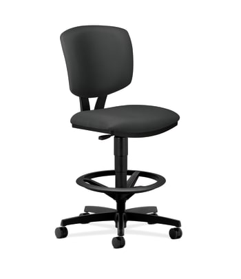HON Volt Task Stool | Extended Height, Footring | Iron Ore Fabric