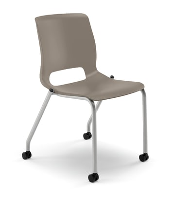 HON Motivate Stacking Chair | Shadow Shell | Textured Platinum Frame | 2 per Carton