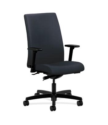 HON Ignition Mid-Back Task Chair | Synchro-Tilt | Adjustable Arms | Navy Vinyl