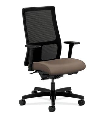 HON Ignition Mid-Back Mesh Task Chair | Synchro-Tilt, Back Angle | Adjustable Arms | Antelope Vinyl